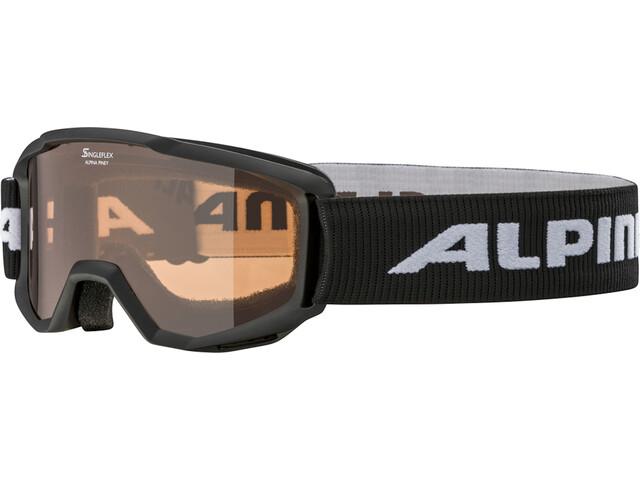 Alpina Piney Laskettelulasit Lapset, black/orange